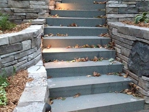 Custom Outdoor Stairs with Lighting
